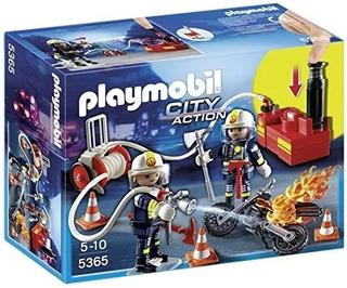 Playmobil City Action Bomberos Con Bomba De Agua Set 5365