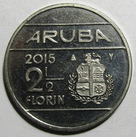 Aruba Moneda Willem Alexander De Holanda 2 1/2 Florin 2015