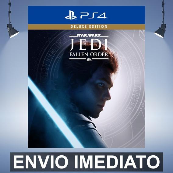 Star Wars Jedi Fallen Order Deluxe Ps4 Código 12 Dígitos