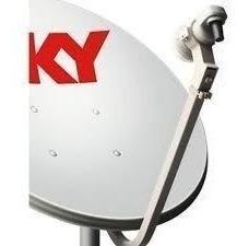 Antena Ku 60 Cm 2 Lnb Duplo - Logo Sky +1 Mastro Com Suporte