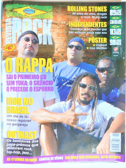Revista Rock #9 O Rappa Rolling Stones Iron Maiden Outkast