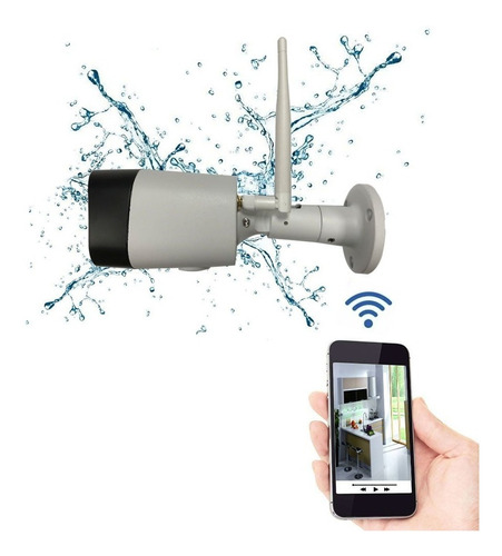 Camera Ip Wireless Wifi Externa Celular Noturna P2p Memoria