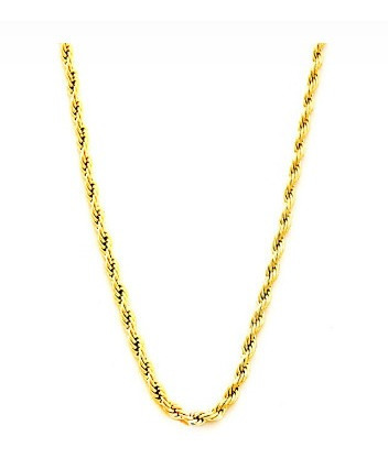 Cordao Banhado Ouro Dourado 60 Cm Cordão Baiano Com Garantia