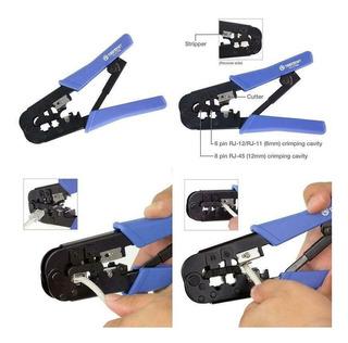 Herramienta Crimpeadora Pela Corta Cable Utp Rj45 11 Criquet
