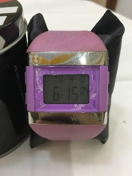 Relógio De Pulso X-games D012 Roxo Feminino 10atm