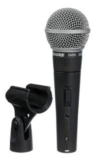 Micrófono con accesorios Shure SM58 dinámico cardioide y unidireccional