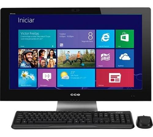Computador All In One 4gb Ram Hd 500 Tela De 24 Win 10 Com T