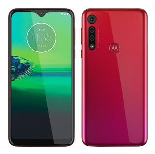 Smartphone Motorola Moto G8 Play Vermelho, Tela 6,2 E 32gb
