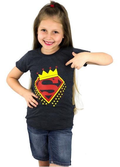 Franela Niña Momo Kids Superman Negro Estampada Detal Mayor