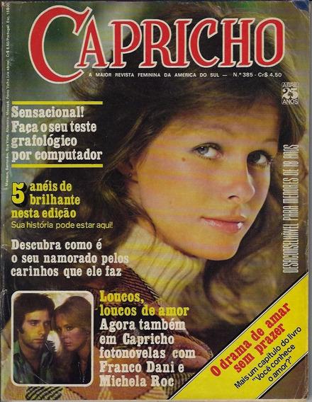 1975 Revista Capricho Nº 385 Editora Abril Fotonovela