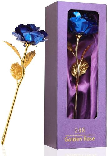Imagen 1 de 3 de Regalo De Cumpleaños Para Las Mujeres Azul Rosa Flores...
