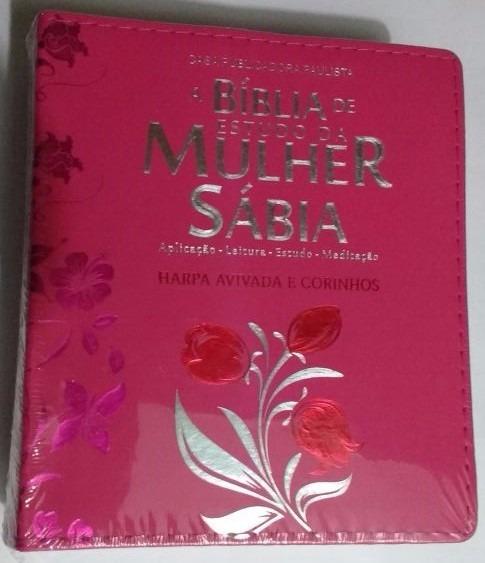 Bíblia De Estudo Da Mulher Sabia C/harpa Pink - Cpp
