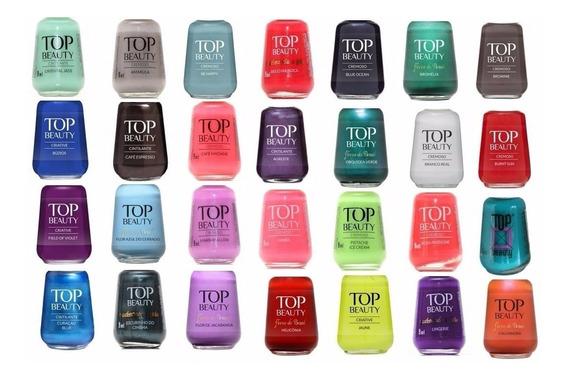 Esmaltes Top Beauty - Kit C/ 12 Unidades - Preço De Atacado