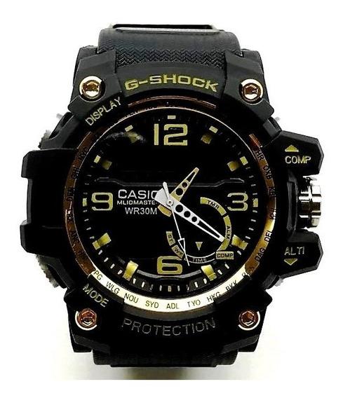 Relogio De Pulso Masculino Premium Lançamento Black E Gold