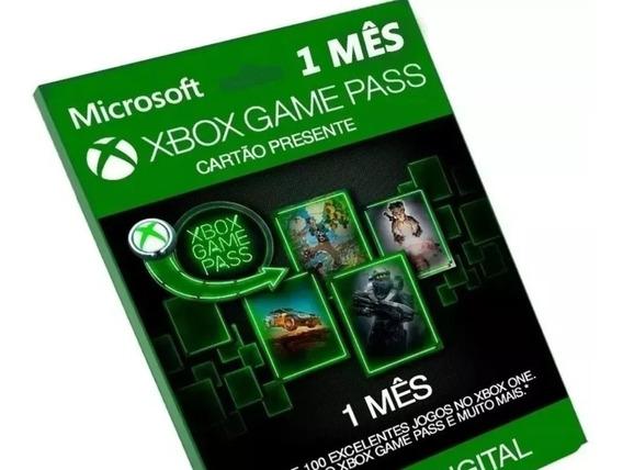 Game Pass Xbox One 1 Mês Original 100 Jogo Código 25 Dígitos
