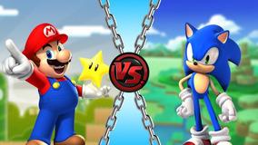Adesivo Para Parede 2,68 Por 2,44 Sonic Vs Mario Bross
