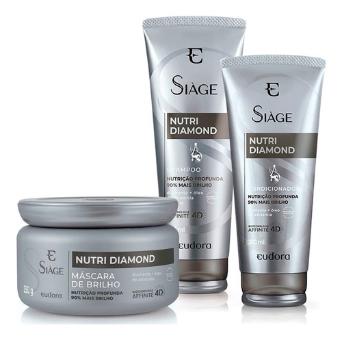 Siàge Nutri Diamond Shampoo + Cond. + Máscara / Eudora