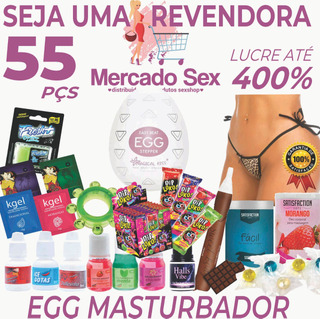 Kit Erotico 55 Produtos Sexshop + Egg Masturbador Atacado