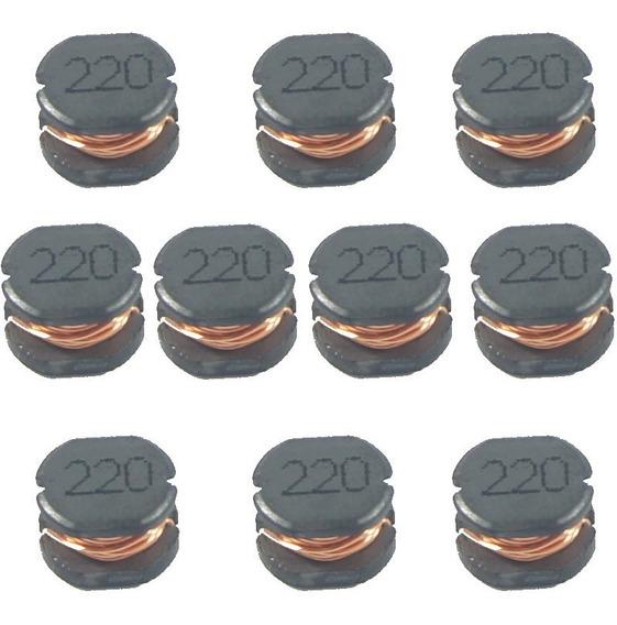 Indutor Smd 220k 7mm X 5mm Kit Com 10 Peças