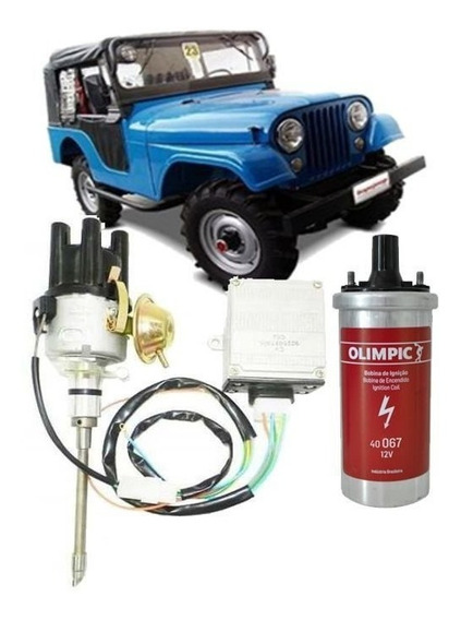Kit Ignição Eletrônica Jeep Wyllis F-75 Rural 6cc Novo
