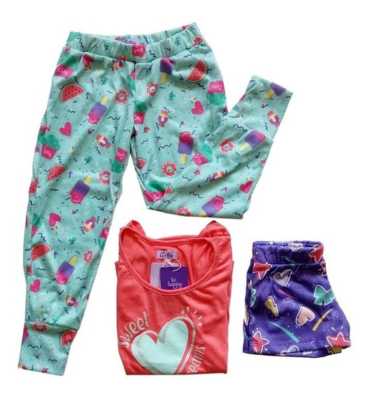 Witty Girls Pijama 3 Piezas Candy Girls Nenas Dormir