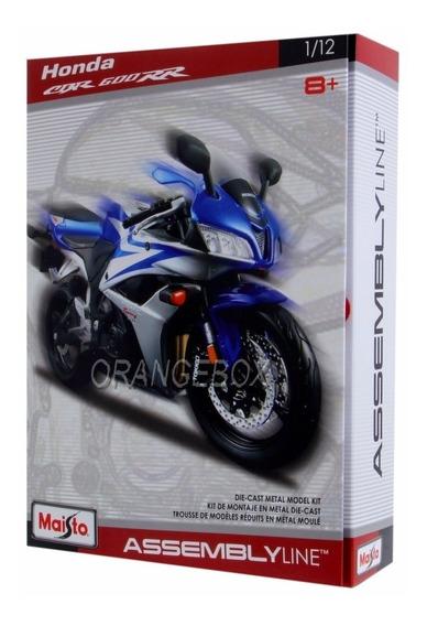Kit Para Montar Honda Cbr 600rr 1:12 Maisto Azul 39051-7