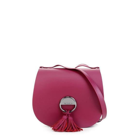Bolsa Petite Jolie Feminina Pvc Saddle Bag Vinho