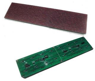 4 Módulos Led Rojo 16x32 P12.5 + Controlador 24k Rs232/rs485