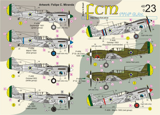 Decalque Curtiss P-40 Fcm 48023 Fab 1/48 P/ Kit Revell