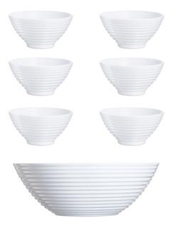Set 6 Compoteras+ 1 Bowl Luminarc Harena Cuotas