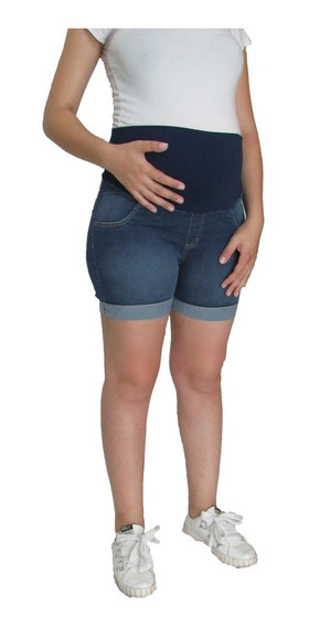Short Grávida Gestante Em Jeans - Frete Gratis - R$ 120