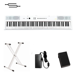 Piano Digital 88 Teclas Artesia Sensitivo Blanco + Soporte