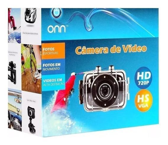 Câmera Filmadora De Ação Onn Hd Hs Vga Tela Touch