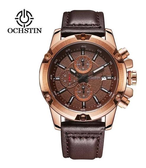 Relógio Masculino Ochstin Original Pulseira De Couro