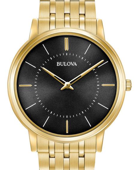 Relogio Bulova Masculino Classic Dourado Slim - 97a127
