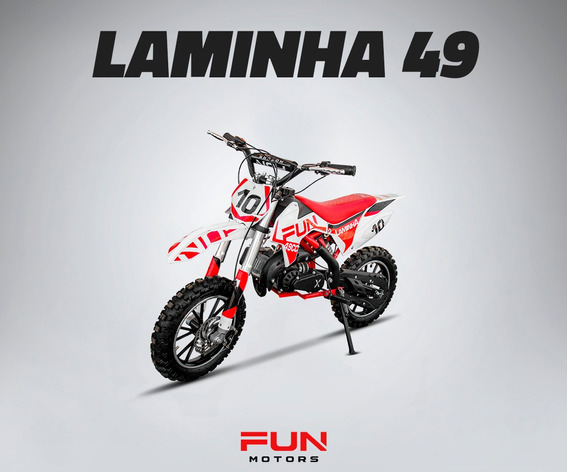 Mini Moto Cross Infantil Laminha 49cc Quadri E Cia Off Road