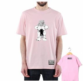 Camisa Camiseta Bear Sk8 Urso Skate Swag Rosa Mais Adesivo