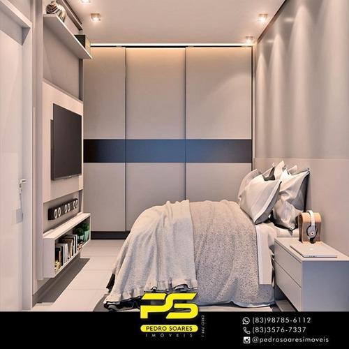 Apartamento Com 1 Dormitório À Venda, 37 M² Por R$ 154.900 - Tambauzinho - João Pessoa/pb - Ap3090