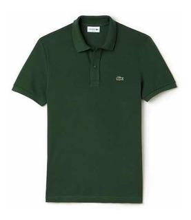 Polo Lacoste L1212 Classic Fit Color Green Nueva Y Original
