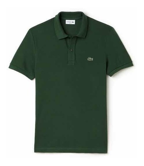 Polo Lacoste L1212 Classic Fit Color Green Nueva Y Original