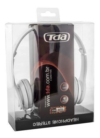 Fone De Ouvido Headphone P2 Estereo Branco Piano Td-7200 Tda