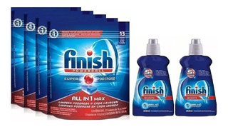 Finish 4 Detergentes Tabletes E 2 Secantes Lavadora De Prato