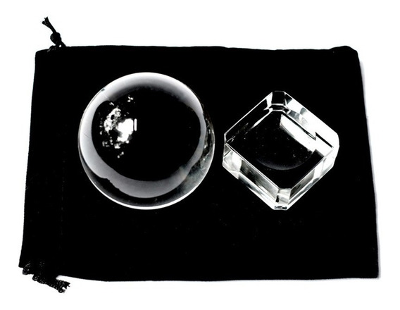 Bola Lensball Cristal Legítimo Grande 60mm + Suporte