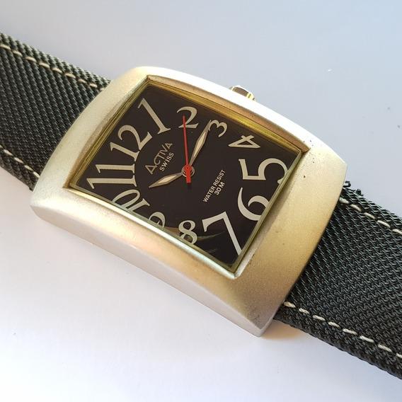 Relógio Activa Cuadro Sl052-002 Swiss Movement