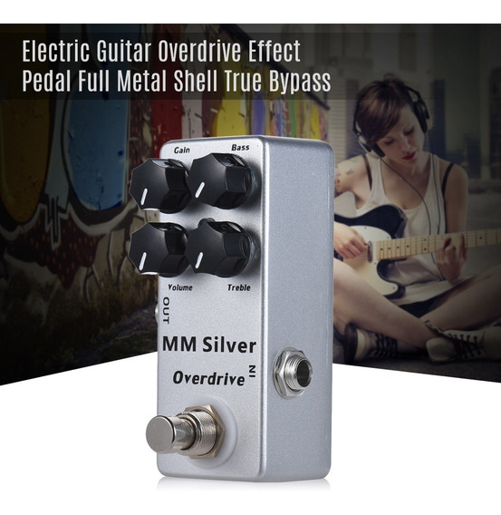 Mosky Mm Silver Guitarra El??trica Overdrive Effect Pedal