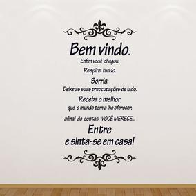 Adesivo Decorativo P/ Parede Sala & Quarto - Frase Bem Vindo