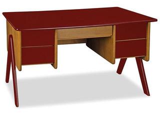 Mesa Para Computador Com 4 Gavetas Vintage - Máxima