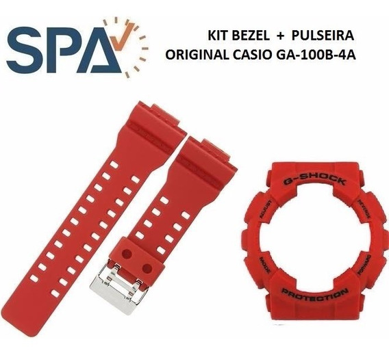Kit Pulseira+bezel Do Relogio Casio Ga-100b-4a 100% Original