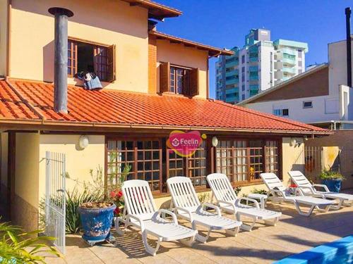 Imagem 1 de 30 de Casa Com 4 Dormitórios À Venda, 350 M² Por R$ 1.400.000,00 - Itacorubi - Florianópolis/sc - Sc - Ca0024_feelin