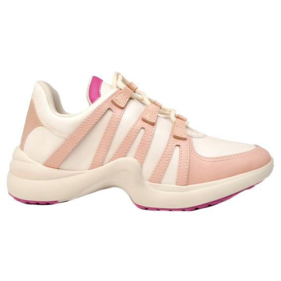 Zapatillas Zapatos Mujer Cuero Ecológico Nude Promo